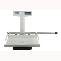 Health o meter 553KGCT-HR Scale with Height Rod and Rolling Cart