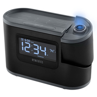 HoMedics SS-5080 Recharged Projection Alarm Clock w/ Temp Sensor