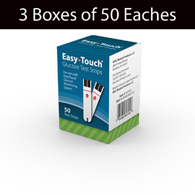 MHC 807050 EasyTouch Glucose Test Strips-3 Boxes of 50