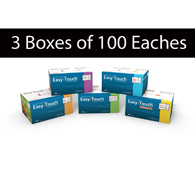 MHC EasyTouch Insulin Syringes-3 Boxes of 100